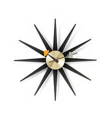 VITRA Sunburst Clock black/brass