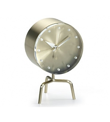 VITRA Tripod Clock brass, acrylic glass
