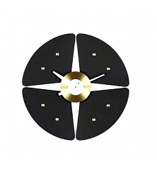 VITRA Petal Clock black/brass