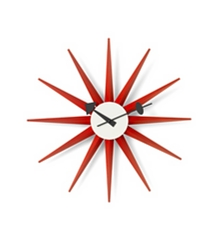 VITRA Sunburst Clock red