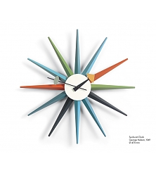 VITRA Sunburst Clock multicoloured