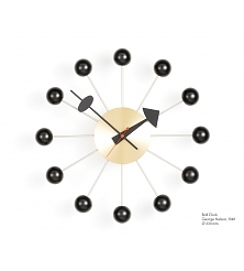 VITRA Ball Clock black/brass