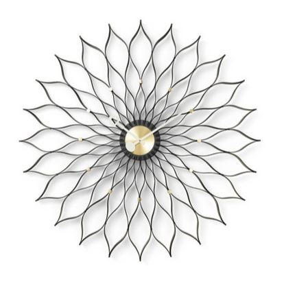 VITRA Sunflower Clock black ash/brass - Фото 1