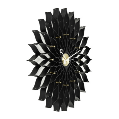 VITRA Sunflower Clock black ash/brass - Фото 2