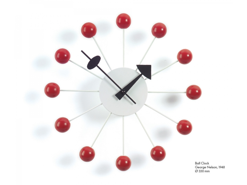 VITRA Ball Clock red - Фото 1