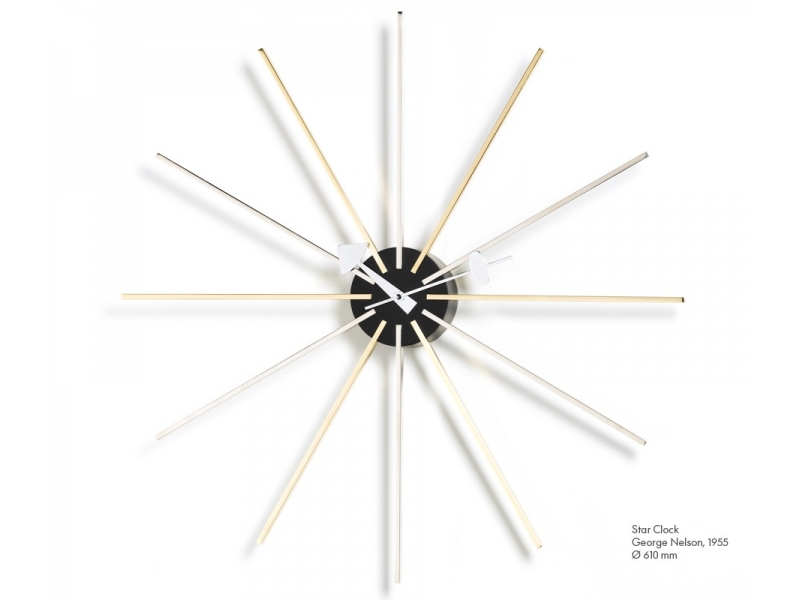 VITRA Star Clock chrome/brass - Фото 1