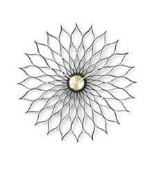 VITRA Sunflower Clock black ash/brass