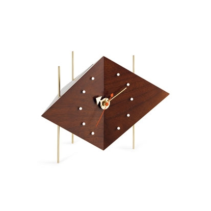 VITRA Diamond Clock solid walnut - Фото 1