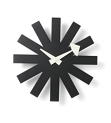 VITRA Asterisk Clock black