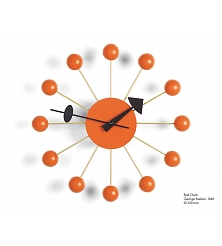 VITRA Ball Clock orange