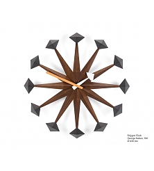VITRA Polygon Clock walnut
